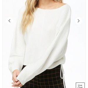 🍀Forever 21 Self Tie Dolman Sweater